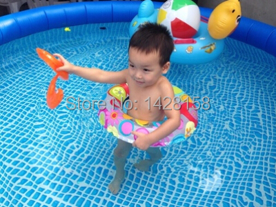 Free shipping, Intex 8ft inflatable pool swimming, family pool size ...