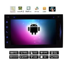 """Android 4.4 7"""" HD Capacitive Full-Touch Screen Car GPS Navigation DVD CD Video Player 2 din Car Stereo FM/AM RDS Radio+Bluetoot"""