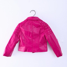 2018 New Fashion Baby Girls Jackets Kids Trendy Jacket Zipper Faux Leather Coats Autumn Winter Outwear Children Clothes Hot Sale