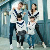 Matching Family Clothes 2015 Autumn Style Sweater Family Look Mother Father Daughter Son Long Sleeve Sport