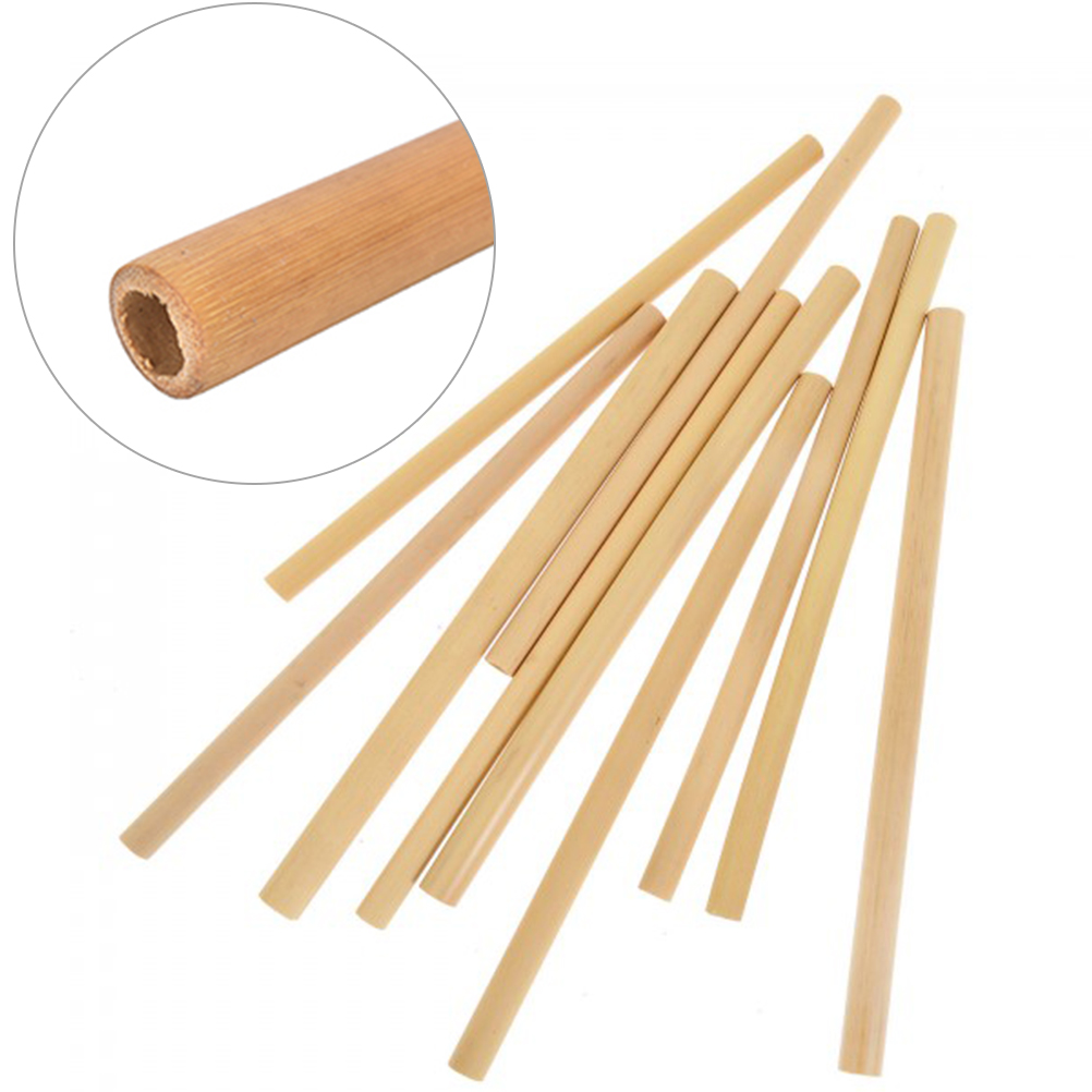 12x Bamboo Straws Eco-Friendly and Natural 30