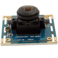720P hd mini UVC usb webcam wide angle Cam Board M12 fisheye lens cctv cmos camera module for industrial machine vision