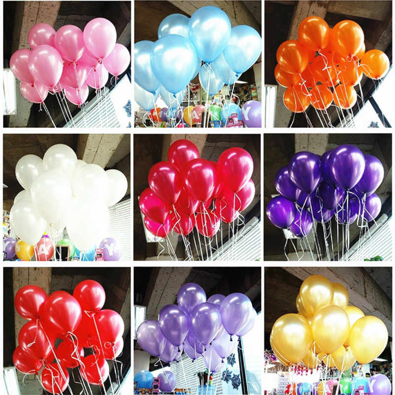 30pcs/50pcs/lot 10 inch Pearl  white pink blue rose red Latex Balloons Birthday Wedding Party Decor  Kids Gifts Supplies 7Z