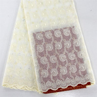 High Quality Latest Pure Color Graceful Pattern Design African Cotton Lace SYS6 Cheap Price And Free