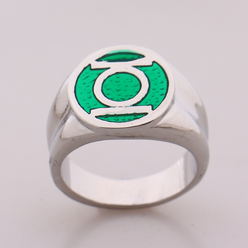 2016 DC Comics Marvel Green Lantern Ringthe Superhero Enamel Silver Power Ring For Men Movie Jewelry In Rings From Accessories On