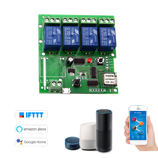 f51b8064ae0 Sonoff Smart Remote Control Wireless Switch Universal Module 4ch DC 5V Wifi  Switch Timer Phone APP Remote Control for Smart Home