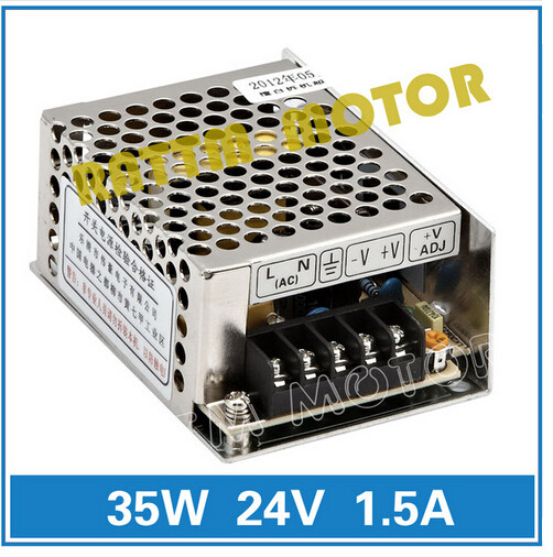 Small volume of 35W <font><b>24V</b></font> Switching Power Supply 86V-264V <font><b>AC</b></font> to <font><b>DC</b></font> <font><b>24V</b></font>/<font><b>1.5A</b></font> Model MS-35-24 image