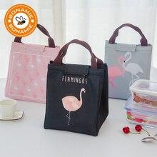 BONAMIE, Термосумка с фламинго, черная, водонепроницаемая, Оксфорд, Пляжная, сумка для обеда, для еды, пикника, Bolsa Termica, для женщин, детей, мужчин, сумка-холодильник, новинка