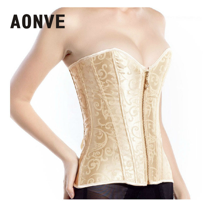 AONVE   Corset   Sexy Lace Up Boned Slimming Overbust   Bustier   Top Waist Cincher   Corsets   Bodice Outfit Wedding Party Sexy Lingerie