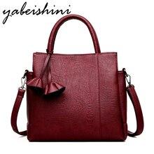 2018 Fashion Soft Leather Women Shoulder Bags Famous Designer Vintage Flower Handbags Women Messenger Bags Ladies Tote Bags Sac