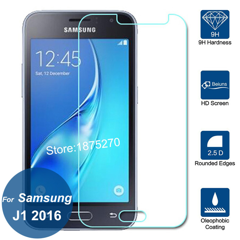 For Samsung Galaxy J1 2016 SM-J120G/DS Screen Protector 2.5D 9H Tempered Glass Protective Film On J 1 2016 Duos 4G LTE Specs