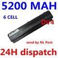 5200 mah bateria do portátil para hp compaq presario cq40 cq45 cq50 g50 g61 G71 HDX16 Pavilion dv4 dv5 dv5t dv5z dv6 dv6t dv6z G60 G70