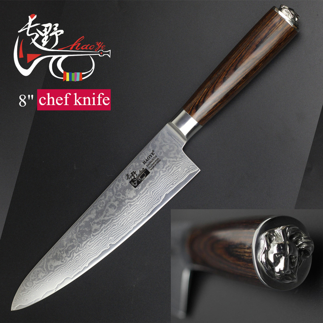 japanese kitchen knife extractor fan 2018 new damascus master chef knives vg10 durable steel beautiful pakkawood handle art statue fashion