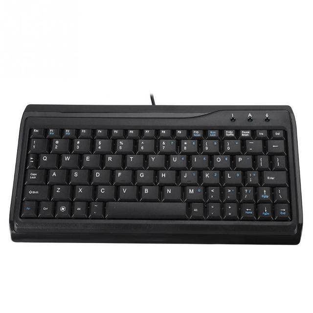 VBESTLIFE Durable 78 Keys Wired Comfortable Typing Mini USB Keyboard with for Desktop