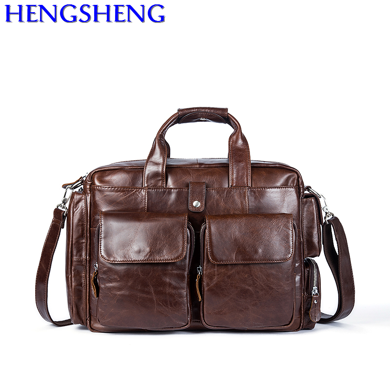 Free Shipping newly design cow leather men shoulder bags for travelling bags men genuine leather messenger bag and men briefcase 2018 newly design men s genuine real 100