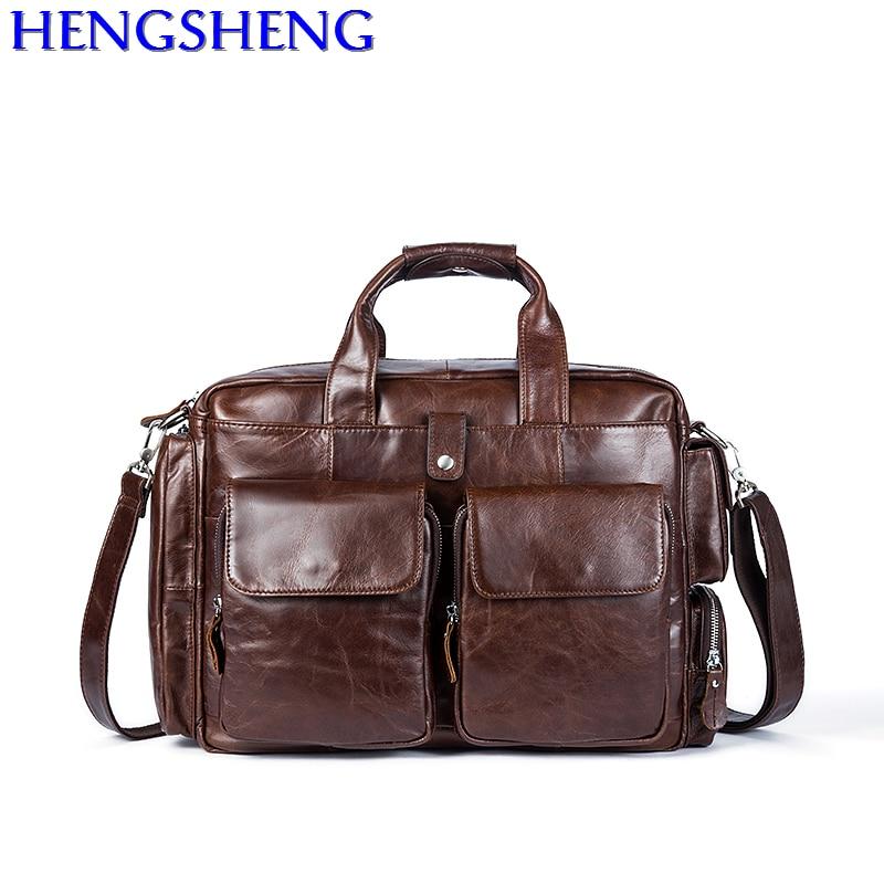 Livraison gratuite nouvellement design en cuir de vache hommes sacs à bandoulière pour les sacs de voyage hommes en cuir véritable messenger sac et hommes mallette