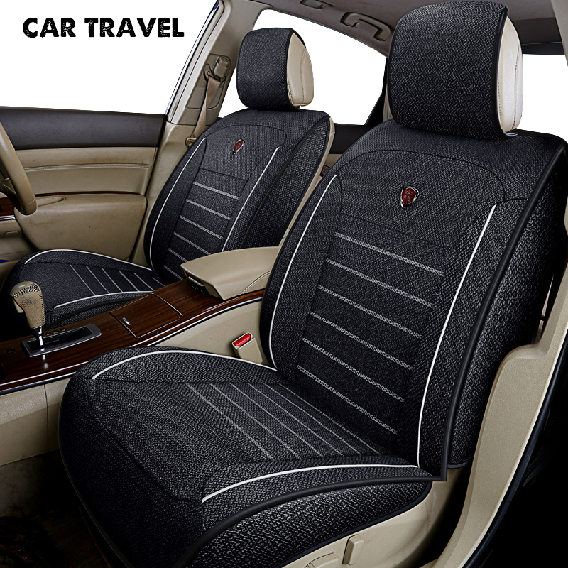 CAR TRAVEL flax car seat cover for peugeot 106 205 206 207 301 307 308 405 406 407 408 508 3008 auto accessories car-styling цена