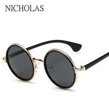 NICHOLAS 2017 Retro Round Sunglasses Women Men Brand Designer Alloy Female Sun glasses Men Oculos De