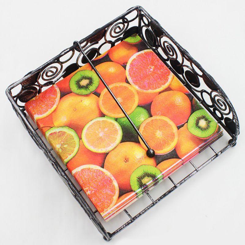 20 шт./лот красочные фрукты печатных Бумага салфетки праздничный вечерние Бумага тарелки ...