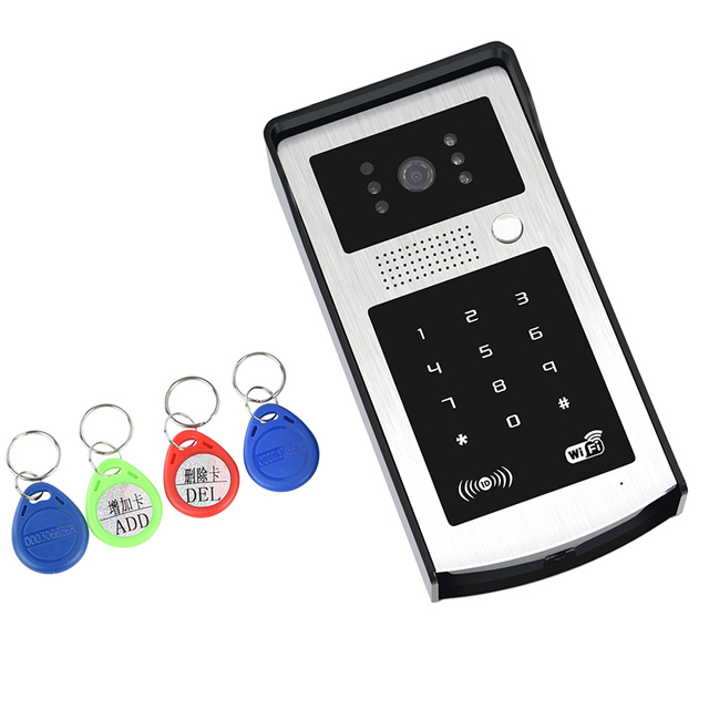 FYF A80 New Arrival Handfree WIFI Video Door Phone Door Intercom System With Night Vision Unlocking By ID Card Reader/Password