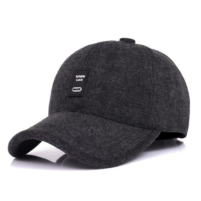 ad940ee5457 WOWTIGER New Fashion Winter Baseball Cap Leisure Cap Warm Thick Hats Men  Ear Protection High-grade