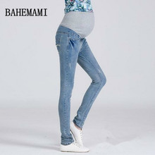 3XL Plus Size Elastic Waist 100 Cotton Maternity Jeans Pants For Pregnancy Clothes For Pregnant Women