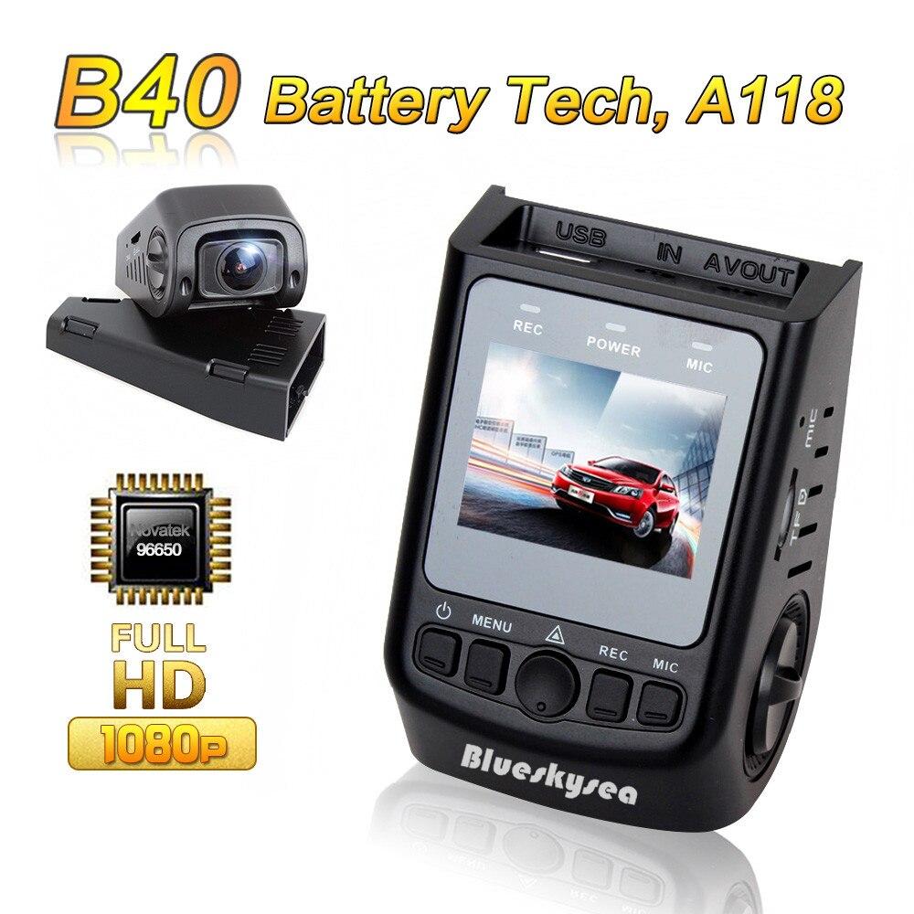 Prix pour Blueskysea dvr b40 a118 novatek 96650 full hd 1080 p 6g objectif h.264 mini voiture tableau de bord caméra vidéo enregistreur dashcam