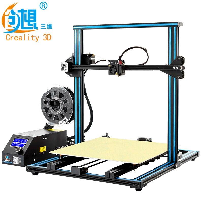 CREALITY 3D Imprimante CR-10 S4 avec Double Z Tige Kit Filament Moniteur Détecter Reprendre le Pouvoir Off Prusa i3 Double Z tige 400x400x400mm
