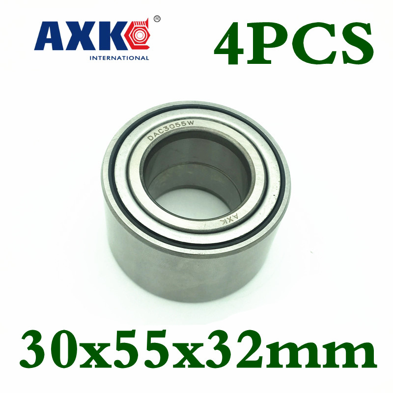 4pcs Axk Dac3055w Dac30550032 30x55x32mm Dac3055 Atv Utv Car Bearing Auto Wheel Hub Bearing Atv Wheel Bearing High Quality 8pcs open dac3063w 30x63x42 dac3063w 1 dac30630042 9036930044 574790 open hub rear wheel bearing auto bearing for toyota