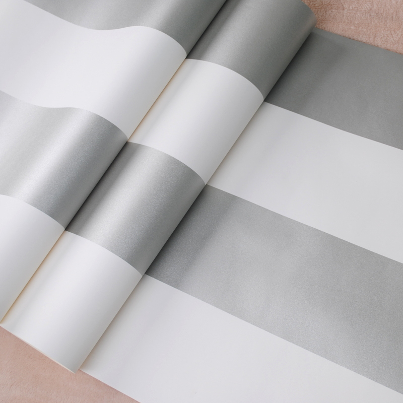 Tapete weiß silber gestreift  Aliexpress.com : Metallic Silber und Weiß Bold Gestreifte Tapete ...