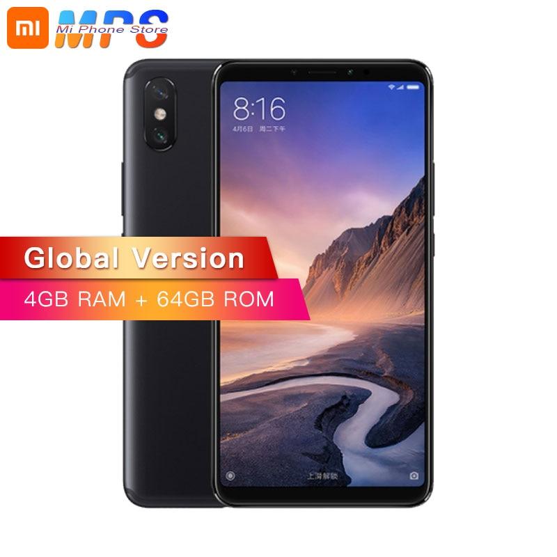 Version mondiale Xiao mi mi Max 3 4 GB 64 GB mi Max 3 B4 B20 téléphone Snapdragon 636 Octa Core 6.9
