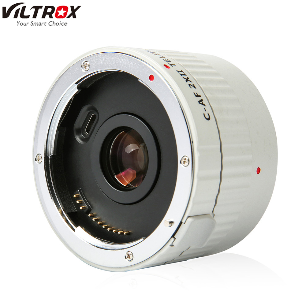 VILTROX C-AF 2X II AF Auto Focus Teleconverter Lens Extender Magnification Camera Lenses for Canon EF Mount Lens DSLR Camera image