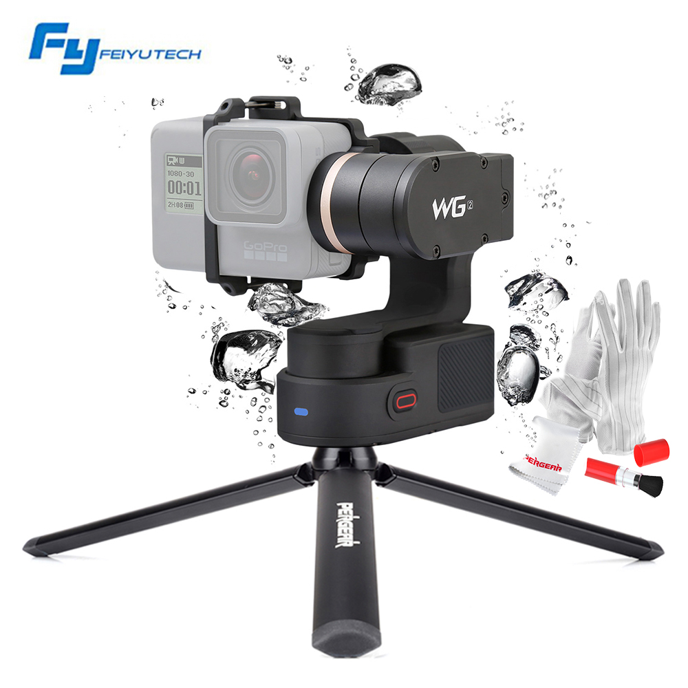 FeiyuTech Feiyu WG2 FY-WG2 3-Axis Wearable Waterproof Gimbal for Gopro 4/5/Session and Similar Size Cameras with Mini Tripod Leg feiyu tech fy wg lite single axis wearable camera gimbal for gopro 3 3 4 pk feiyu wg2 free shipping
