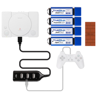 True Blue Mini Crackhead Meth Fight Weed Pack for PlayStation Classic + Wireless Bluetooth Gamepad RR Adapter for PS 3/4