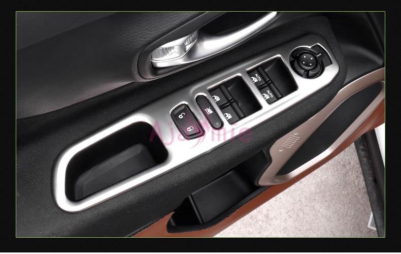 Хромированный автомобильный Стайлинг, для интерьера, оконное стекло, переключатель, накладка, накладка, панель, рамка- для Jeep Renegade, аксессуары