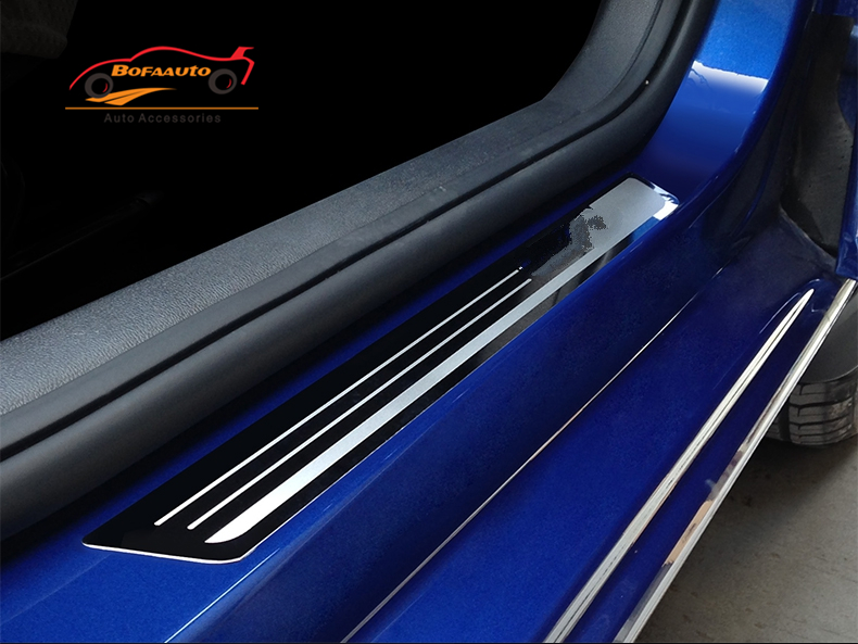 Sticker Accessories For Vw Volkswagen Jetta Mk6 Stainless Steel Door Sill Scuff Plate Pedal 2011 2012 2013 2014 2017 Car Styling built guard bump guard plate after the pedal steel trunk for 2011 2012 2013 2014 vw volkswagen polo hatchback