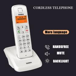 Multi-línguas criativo sem fio telefone base máquina de escritório em casa fixo cabo sem fio telefone com chamada id interfone função