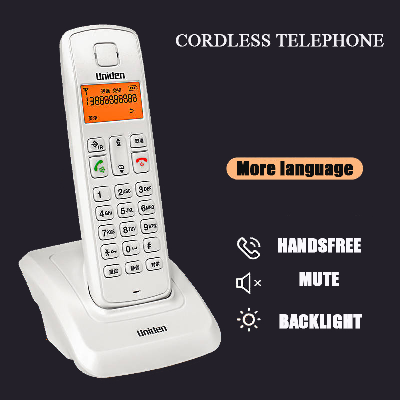 Multi-languages Creative Cordless Telephone Base Machine Home Office Fixed Wireless Cable Phone With Call ID Intercom Function Multi-languages Creative Cordless Telephone Base Machine Home Office Fixed Wireless Cable Phone With Call ID Intercom Function