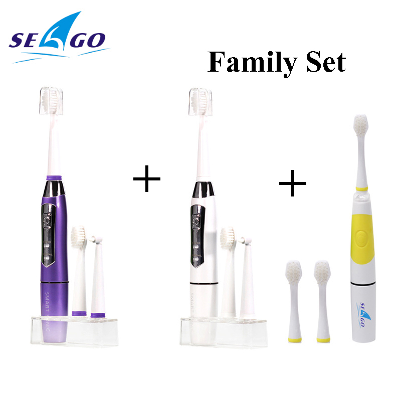 SEAGO Sonic Electric Toothbrush Family Battery Toothbrush SG910 and Kids Battery Tooth Brush LED Indicator Toothbrush SG918