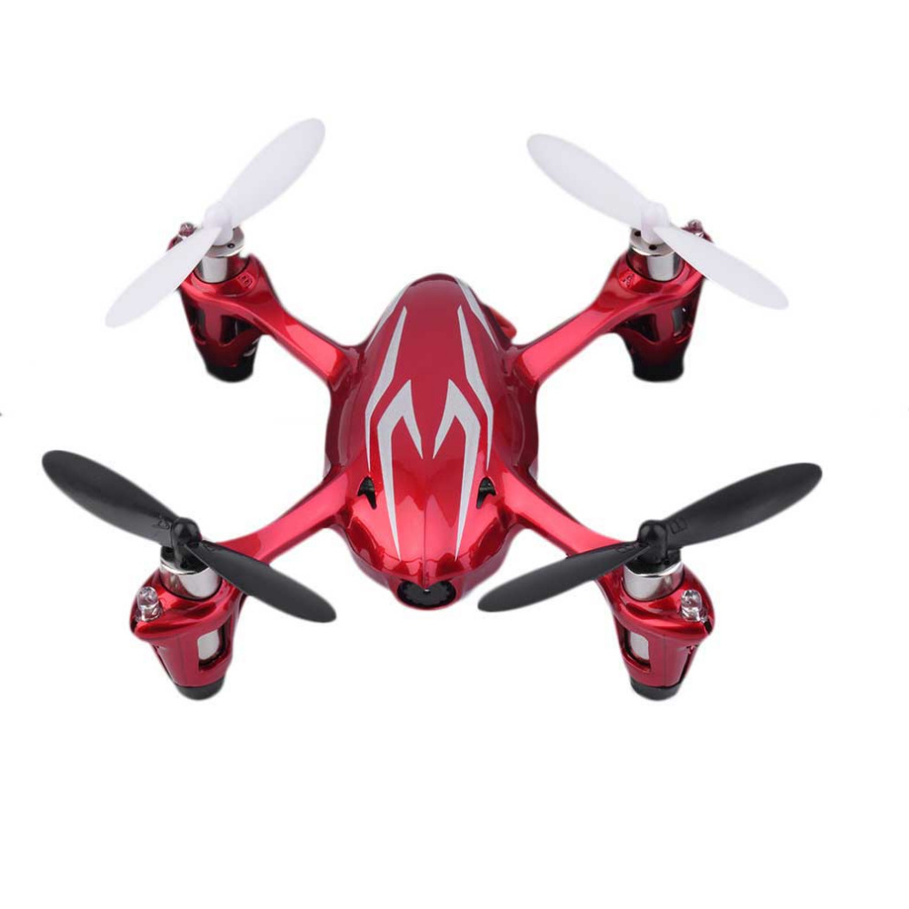 2017 Lightweight airframe Hubsan X4 H107C 2.4G 4CH RC Quadcopter RTF Drone With HD 2MP Camera Red & Silvery радиоуправляемый инверторный квадрокоптер mjx x904 rtf 2 4g x904 mjx