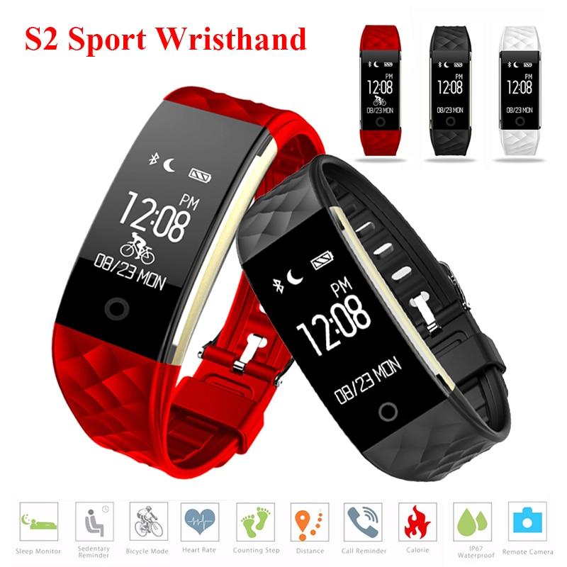 S2 Sport Smart Band Fitness Tracker Pulse Watch Pulsometro Pedometer ձեռնաշղթա Սրտի գնահատման մոնիտոր Cardiaco pk xiaomi mi band 2 3