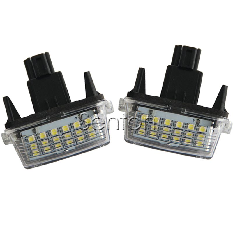 1Pair Car LED number License Plate Light 12V White SMD LED lamp Car Styling For Toyota Corolla Yaris Camry Auris Vios Hybrid 2x car led license plate lights 12v smd3528 led number plate lamp bulb kit for toyota crown s180 corolla vios previa accessories