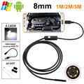 Hd720p câmera 1.3mp 8mm android usb endoscópio 6led endoscópio flexível usb usb otg android borescope wired 1 m/2 m/5 m para samsung