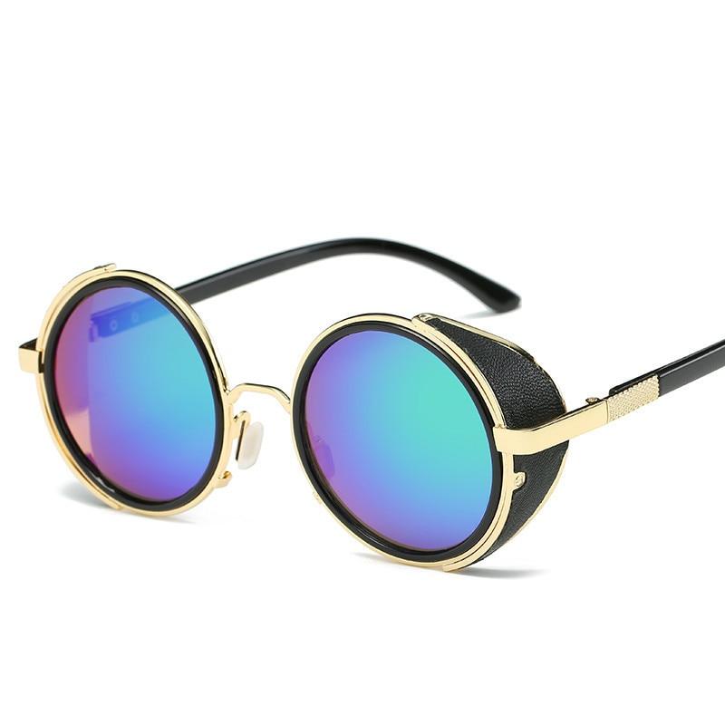 LONSY Steampunk Sunglasses Wanita Putaran Kacamata Kacamata Baru Pria - Aksesori pakaian - Foto 5