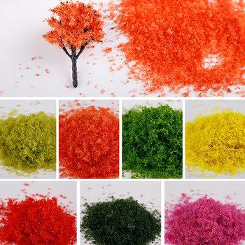 Nowy 1 sztuk 30g Multicolor liście liście dla drzewa modele Ho pociąg kolejowy kolejowy miniaturowy krajobraz DIY Wargame Hedge Diorama tanie i dobre opinie Unisex 3 lat none No for kids under 3 years old Z tworzywa sztucznego FA0100 Budynki