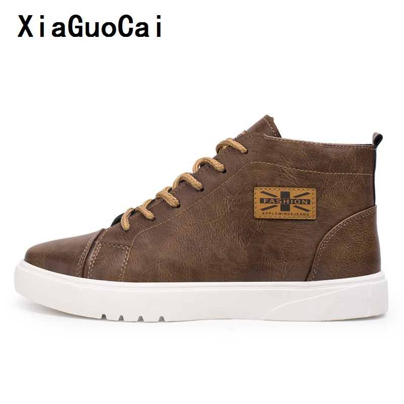 High quality Man Casual Boots Solid Sewing Round Toe Wild Stylish fashion simple Korean Leather Boots vintage waterproof YC453 (9)