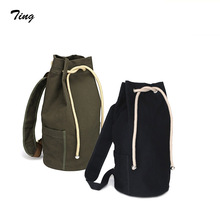 Men Casual canvas drawstring rucksack backpack male bicycle backpack youth school bags vintage back pack bag mochilas mujer 2016
