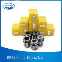 19pcs ER32 Collet Chuck set 2 20mm Tool Holder Milling Chucks CNC Lathe Tools for Engraving Drilling Machine Tools