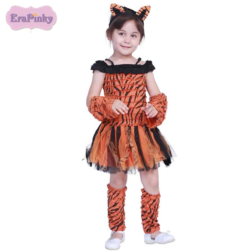 Erapinky 2019 Cute Stripe Tiger Costumes Dress For Girls ...