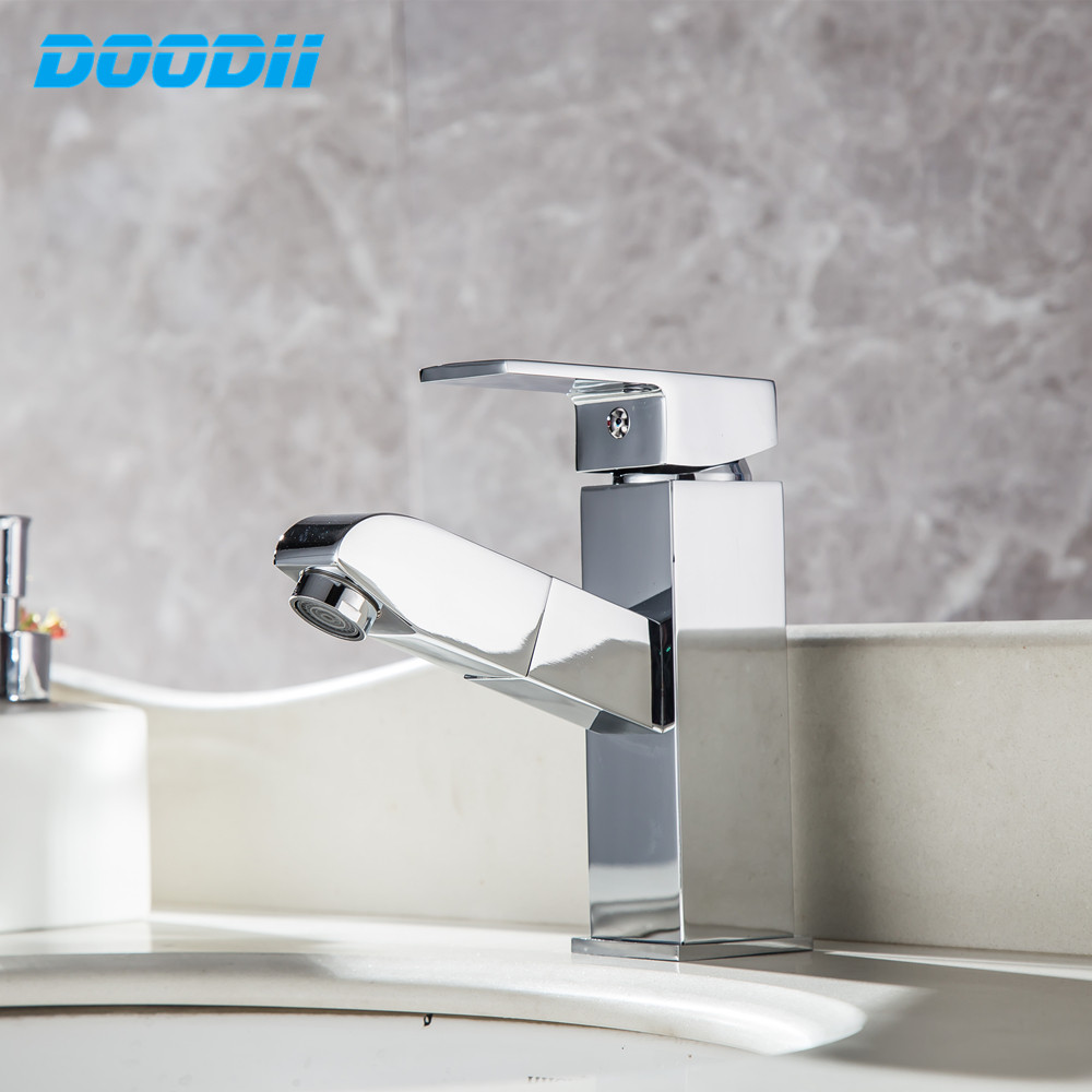 Permalink to Kitchen Faucet Electroplated Pull Out Sink Mixer Tap Swivel Spout Sink Faucet Swivel Copper Kitchen Faucets tap Torneira DOODII